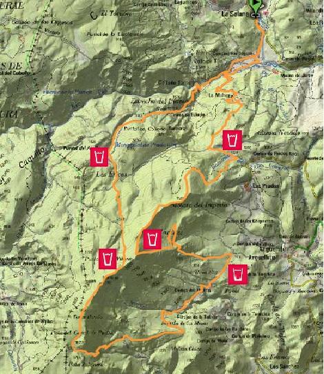 Recorrido Mentiras Trail2014